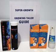 Super-Growth effervescent tablet, grow taller guide and super-growth liquid formula